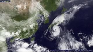 1月1日0時(JST)~12月31日23時(JST)まで 出典:高知大学気象頁.