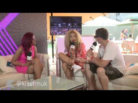 Rita Ora Chats To Kiss FM (UK) At Yahoo! Wireless Festival