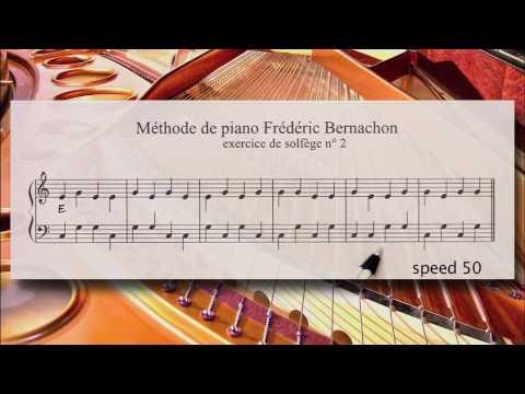 Piano for beginner: Lesson #2 - Tutorial - Sight reading - The Bernachon Method.