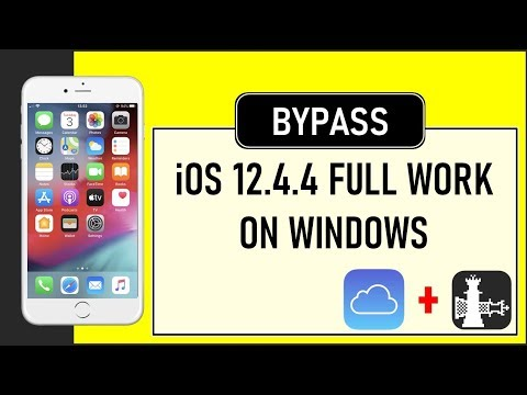 IPhone 6 IOS 12.4.4 Bypass ICloud Full Support Windows