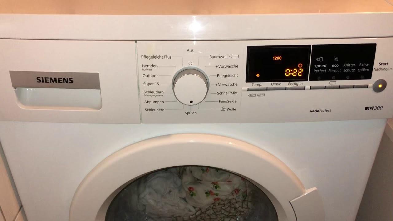 siemens waschmaschine fehler code f 21 l schen youtube