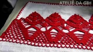 Crochê vermelho parte 1 – Red crochet part 1 – ganchillo parte roja 1
