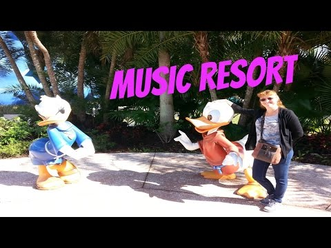 Walking around Disneys AllStar Music Resort