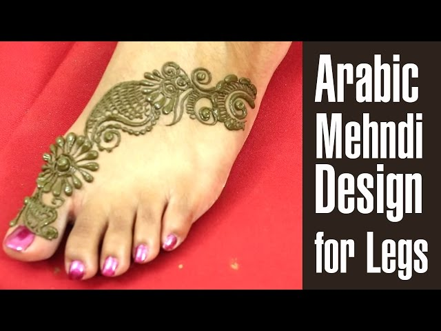 Simple Mehandi Designs For Legs Images