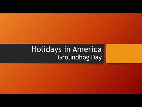 Holidays in America - Groundhog Day - February 2