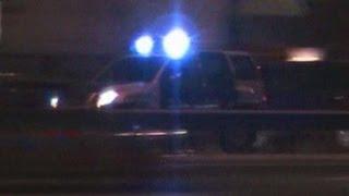 Dubai Police patrol car responding on Sheikh Zayed Road