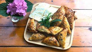 Очень хороший рецепт слоеного теста и хачапури Слоеные пирожки с сыром