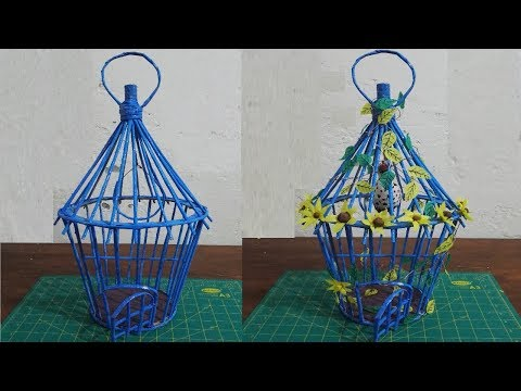 DIY Recycle Newspaper Bird Cage | Best Out of Waste Ideas | Paper Craft Idea