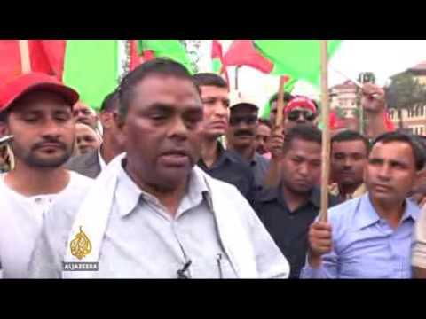 Nepal  Ethnic minorities protest against new constitution