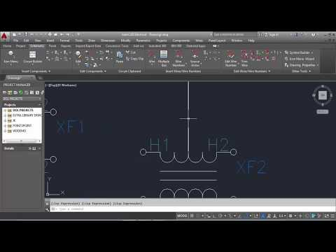 AutoCAD Electrical Tutorial Drawing  Class 01  How to Drawing  a single line diagram