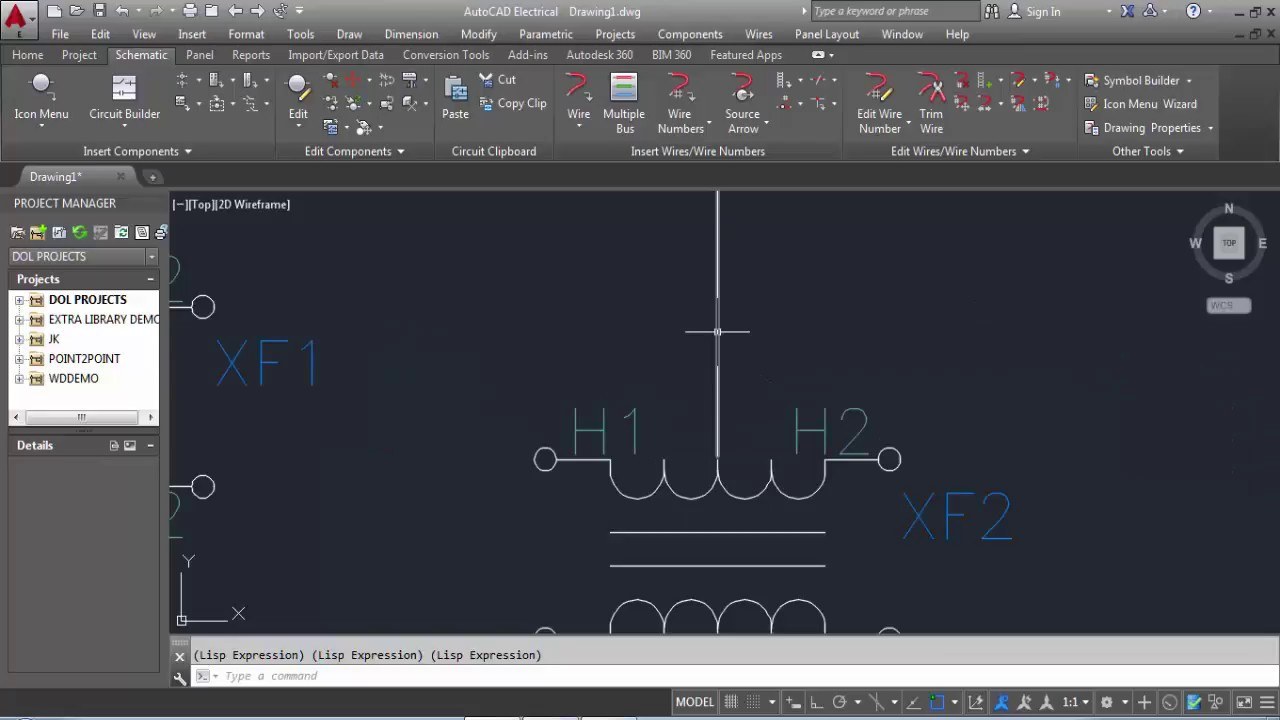 autocad electrical tutorial drawing class 01 how to drawing a single line diagram [ 1280 x 720 Pixel ]