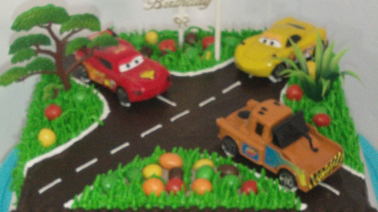 Topper Cars Toy Cake Decorating Birthday Cake YouTube