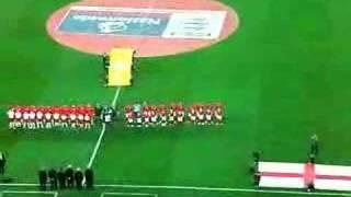 Wembley England vs Switzerland national anthems