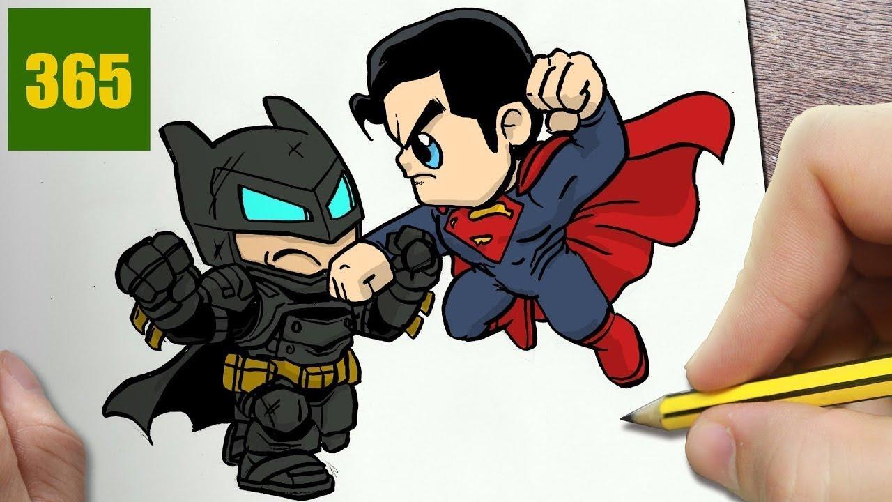 Come Disegnare Batman Superman Kawaii Passo Dopo Passo Disegni