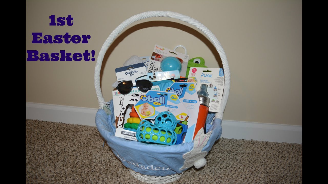 Babys first easter basket ideas youtube babys first easter basket ideas negle