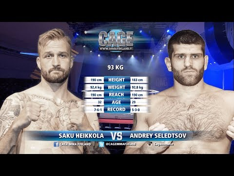 CAGE38Saku Heikkola vs Andrey Seledtsov Full Fight MMA