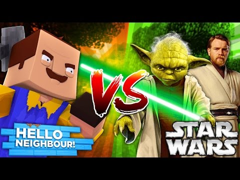 Minecraft STAR WARS VS HELLO NEIGHBOR - THE NEIGHBOUR LOST HIS WEDDING RING!! - Donut the Dog
