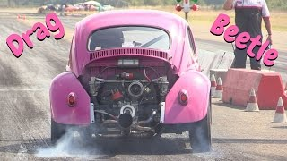 VW Beetle Drag Racing Vol.1 - Hills Race 2016 - Jump, actions, & Pure Sound!