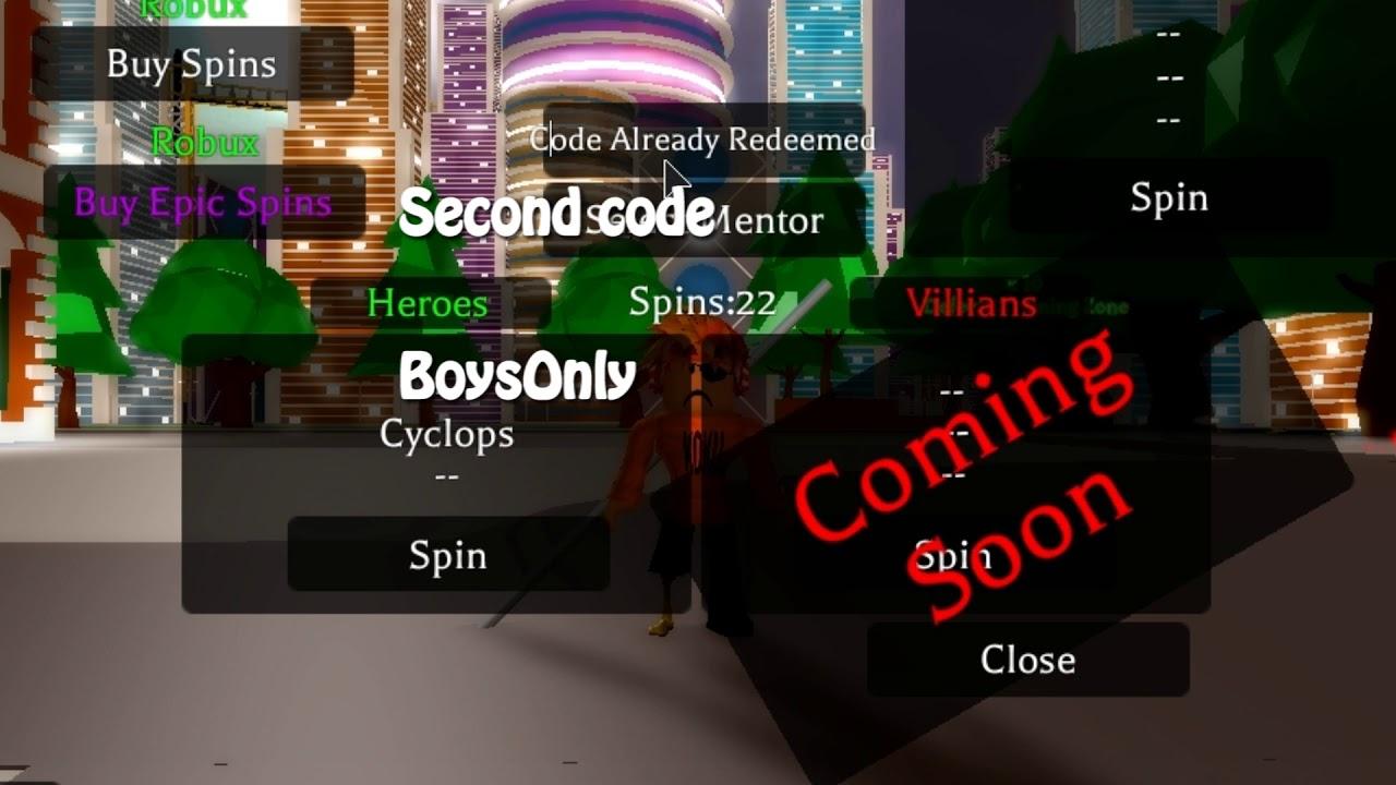 Roblox Heroes Online Epic Spin Code - New Codes Super Hero Online Adventure Roblox