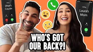 Seeing If Our Friends & Family Would Lie For Us | Dhar and Laura