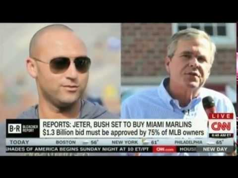 Jeb Bush and Derek Jeter reportedly agree $1 3bn deal to buy Miami Marlins