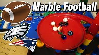 Marble sports: football: patriots vs eagles