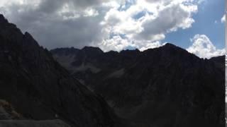 2016年9月 ピレネー、バスク旅行のツールド・フランスのピレネー超えの最大難所のツールマレー峠の風景 標高2115M