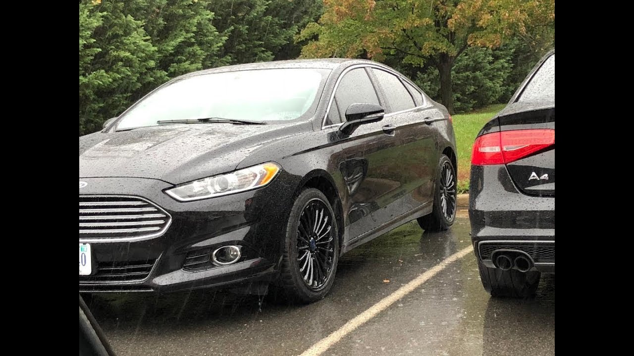 Ford Fusion Black Rims >> 2016 Fusion Gloss Black Wheels Youtube