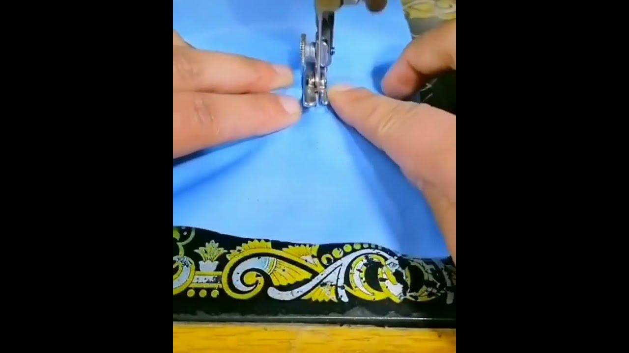 طريقة سهلة خياطة شريط السحاب  على الوسائد والمفارش بماكنة سنجر السوداء تقنية رائعة ومتقنة