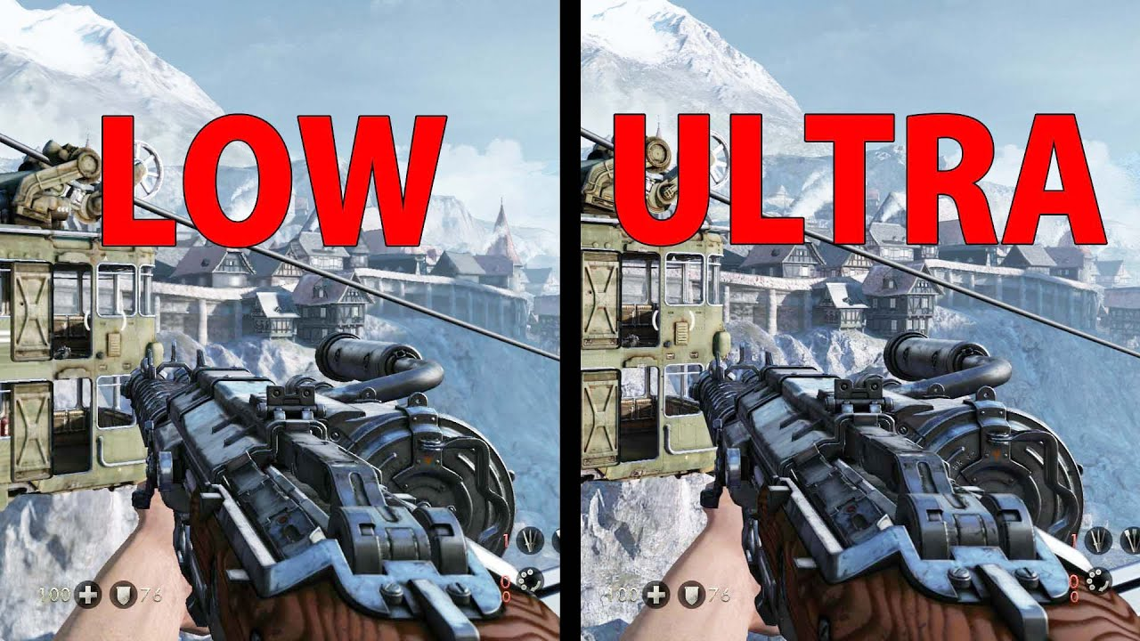 Wolfenstein: The Old Blood - Ultra Settings VS Low Settings