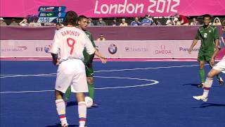 Football 7-a-side - RUS vs BRA - Men's Semifinal 1 -  1st Half - London 2012 Paralympic Games.mp4