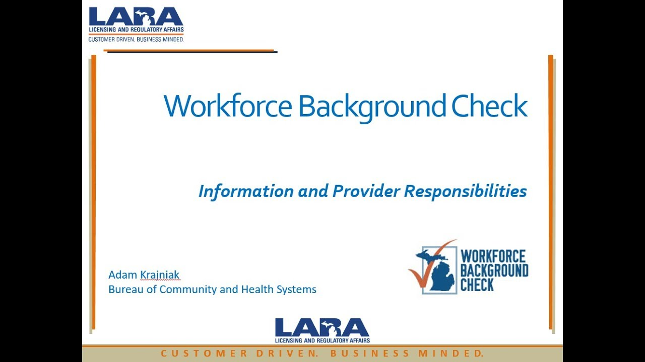 Long Term Care - Workforce Background Check