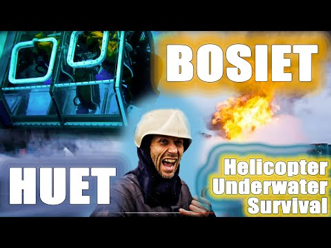 BOSIET training (HUET/ Sea Survival / Fire Fighting) for rope access offshore work
