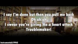Olly Murs - Troublemaker (Feat. Flo Rida) Instrumental / Karaoke with Lyrics