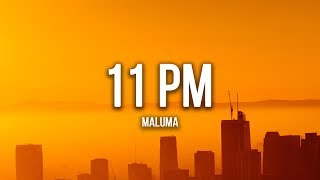 Maluma - 11 PM (Lyrics / Letra)
