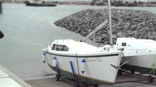 Catamaran Launching Janus Optimisti Cat