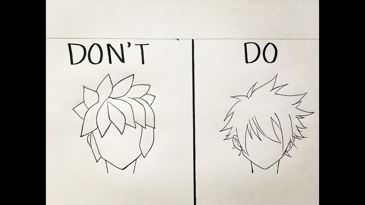 Do S And Don Ts In Drawing Male Anime Hair Youtube