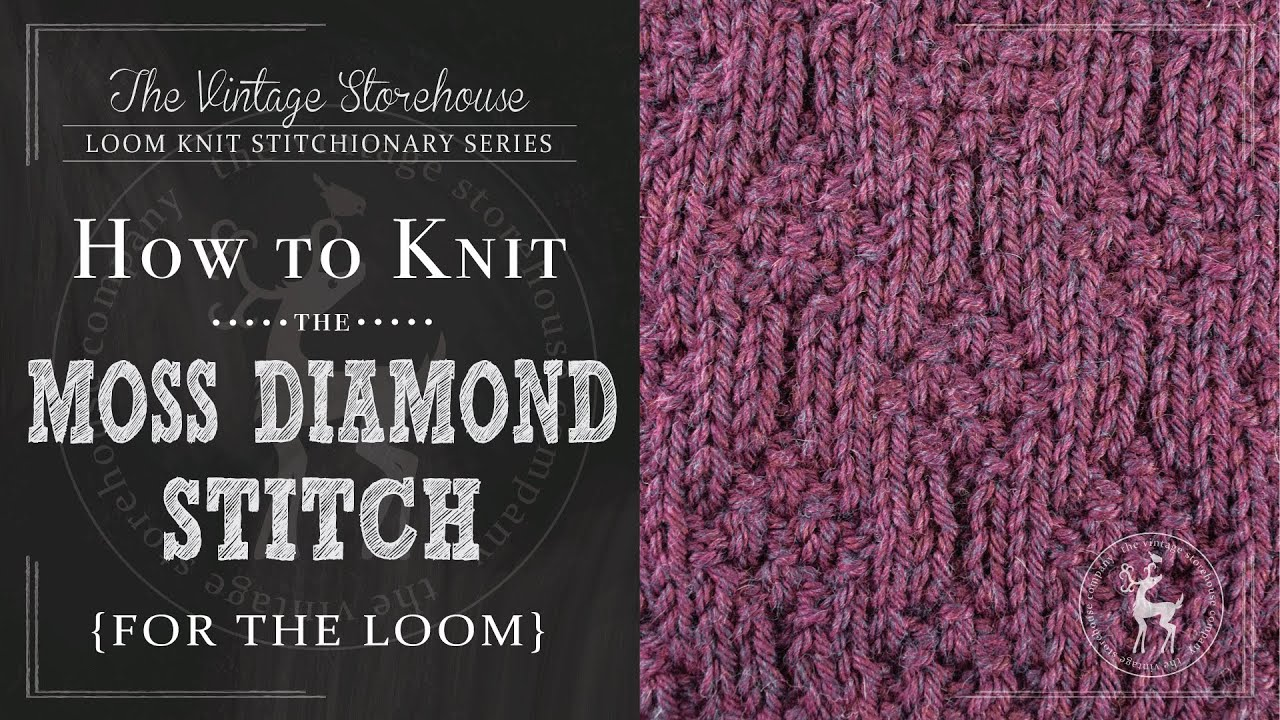 How to knit the moss diamonds stitch for the loom youtube how to knit the moss diamonds stitch for the loom bankloansurffo Choice Image