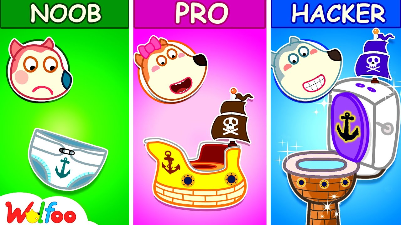 Download Wolfoo Makes DIY Pirate Potty - Kids Stories about Potty Training With Wolfoo   Wolfoo Family