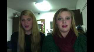Brittany and Heather singing Hallelujah
