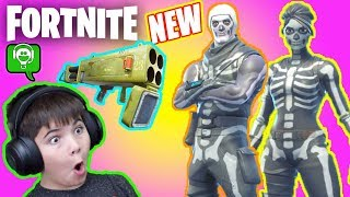 Fotnite Skull Trooper and Quad Rocket Launcher