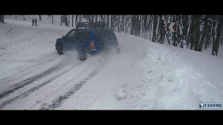 Frozen Forest Drift - Subaru Impreza STi vs. Subaru Forester STi