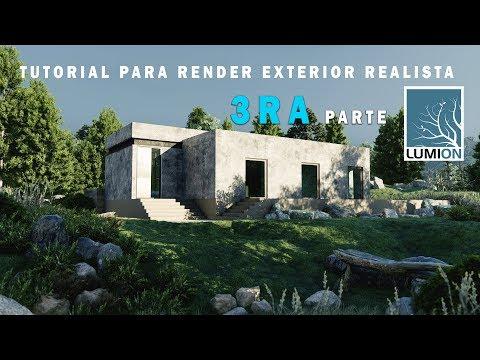 LUMION 9 RENDER EXTERIOR REALISTA   CASA DE CAMPO PARTE 3