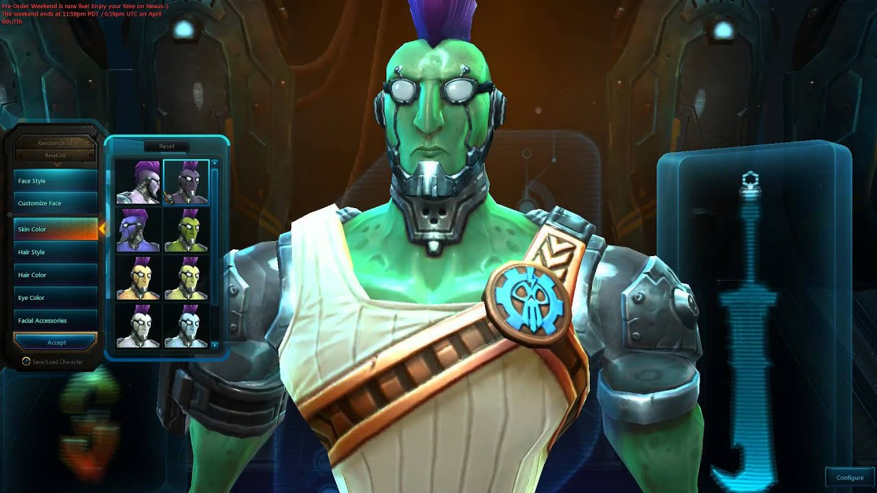 WildStar Beta: Mordesh Character Customization - YouTube