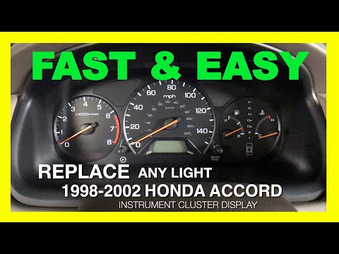 1998-2002 Honda Accord Odometer Backlight Fix (Instrument Cluster Display Removal) 6th Generation