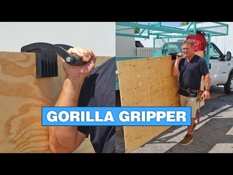 Gorilla Gripper Helps You Carry Large Panels of Wood or Drywall