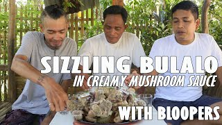 SIZZLING BULALO IN CREAMY MUSHROOM SAUCE