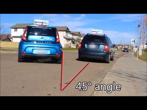 How to Parallel Park with Archers Blue Car Driving School