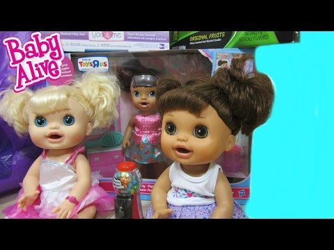 Baby Alive Sisters Kara + Sophie's OUTING + HAUL And Toys R Us Exclusive BUTTERFLY PARTY BABY ALIVE