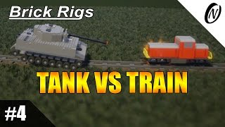 Brick Rigs Gameplay | TANK VS TRAIN | PC Game Guide, Overview & Review | Part 4